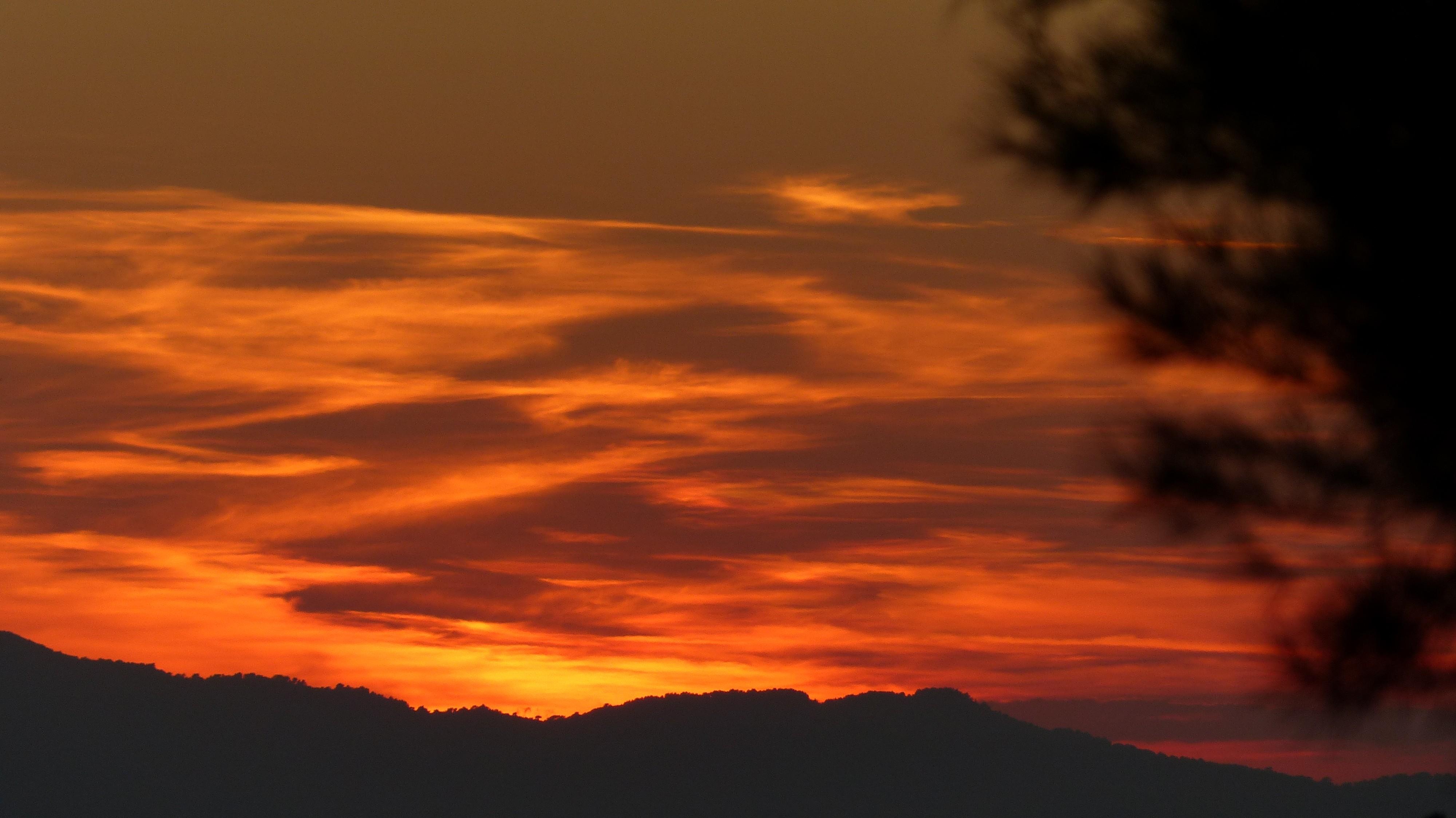Sonnenuntergang im Var (Südfrankreich)