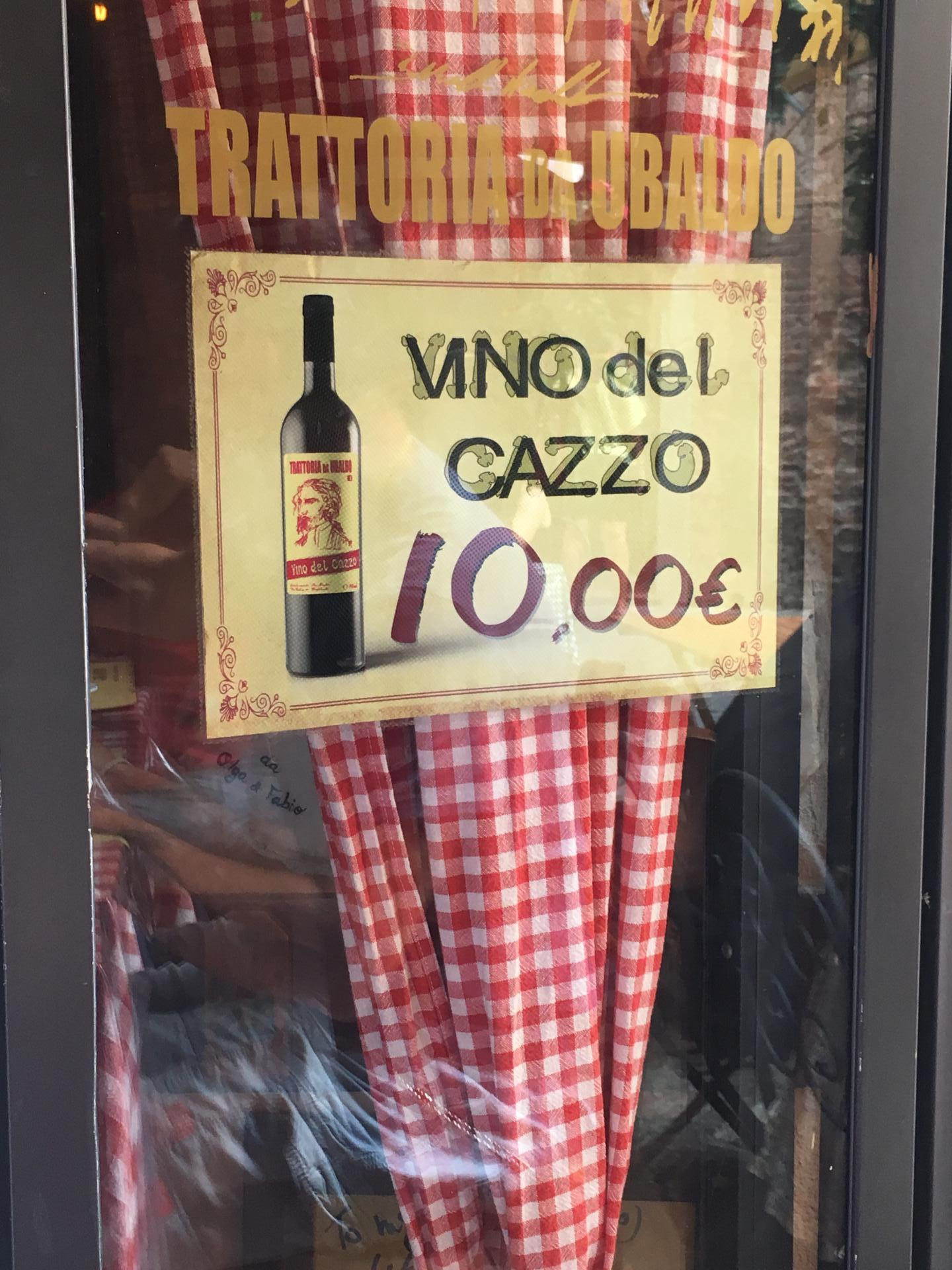 Drinking wine in Lucca