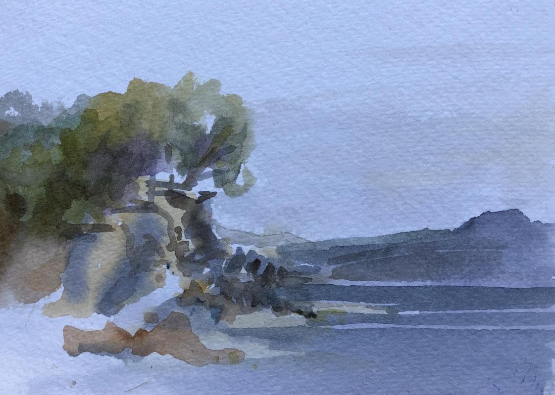 Plage Niel et Vue sur l'Île de Porquerolles