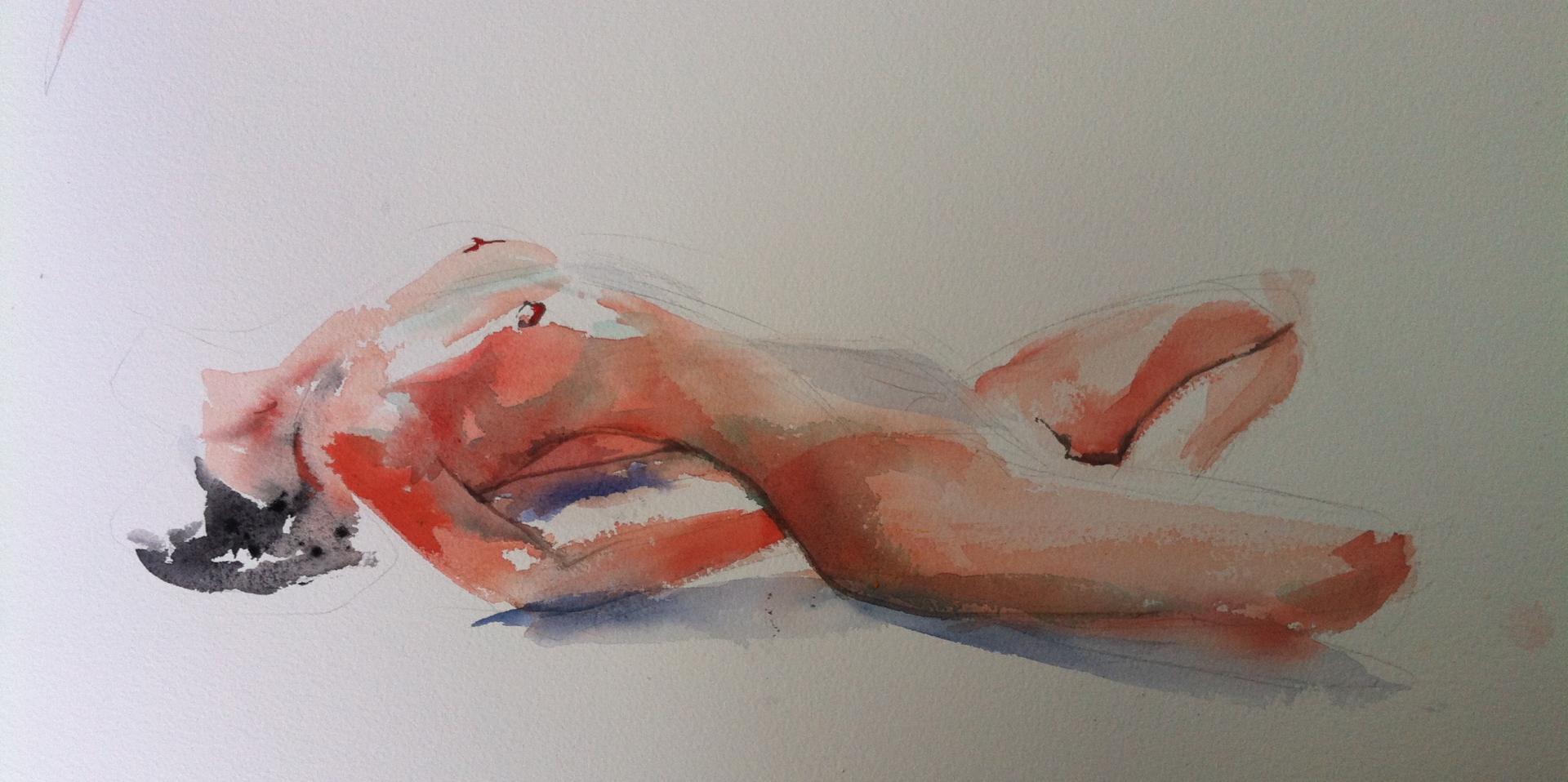 Nude (Aquarelle)